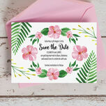 Tropical Flower Save the Date additional 1