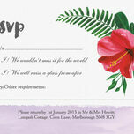 Tropical Hibiscus RSVP additional 1