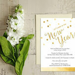 Gold Confetti New Years Eve Party Invitation additional 2