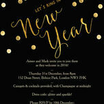 Black and Gold Confetti New Years Eve Party Invitation additional 1