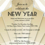 Black and Gold Art Deco New Years Eve Party Invitation additional 1