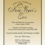 Gold Art Deco New Years Eve Party Invitation additional 1