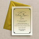 Gold Art Deco New Years Eve Party Invitation additional 2