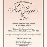 Blush Pink Art Deco New Years Eve Party Invitation additional 1