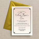 Blush Pink Art Deco New Years Eve Party Invitation additional 4