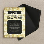 Black and Gold Sparkle New Years Eve Party Invitation additional 3
