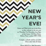 Mint Green and Gold New Years Eve Party Invitation additional 1