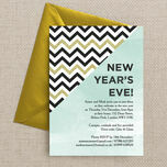 Mint Green and Gold New Years Eve Party Invitation additional 2