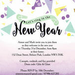 Colourful Confetti New Years Eve Party Invitation additional 1