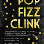 Pop Fizz Clink New Years Eve Party Invitation additional 1