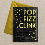 Pop Fizz Clink New Years Eve Party Invitation additional 3
