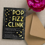 Pop Fizz Clink New Years Eve Party Invitation additional 2