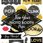 New Year's Eve Printable DIY Photo Booth Props additional 1
