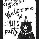 Grizzly Bear Welcome Party Sign additional 2