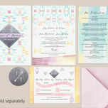 Pastel Geometric Guest Information Card additional 2
