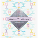 Pastel Geometric Wedding Invitation additional 5