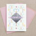 Pastel Geometric Wedding Invitation additional 8