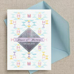 Pastel Geometric Wedding Invitation additional 7
