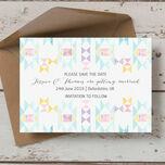 Pastel Geometric Save the Date additional 3