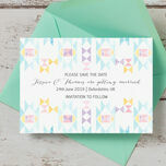 Pastel Geometric Save the Date additional 2