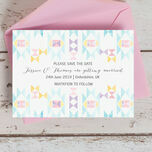 Pastel Geometric Save the Date additional 4