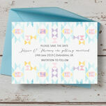 Pastel Geometric Save the Date additional 1