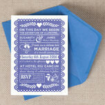Mexican Inspired Papel Picado Wedding Invitation additional 2