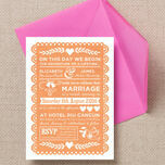 Mexican Inspired Papel Picado Wedding Invitation additional 4
