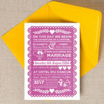 Mexican Inspired Papel Picado Wedding Invitation additional 1