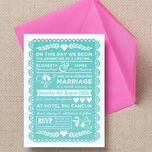 Mexican Inspired Papel Picado Wedding Invitation additional 3