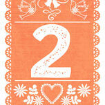 Mexican Inspired Papel Picado Table Number additional 3