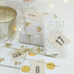 Rustic Kraft Printable Advent Calendar Tags additional 1