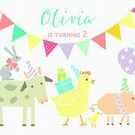 Farmyard Animal Themed Party Invitation additional 4