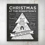 Personalised Chalkboard Christmas Tree Print additional 1