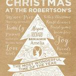 Personalised Rustic Kraft Christmas Tree Print additional 2
