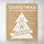Personalised Rustic Kraft Christmas Tree Print additional 1