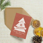 Rustic Red Personalised Christmas Cards additional 1