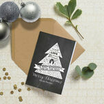 Chalkboard Personalised Christmas Cards additional 1