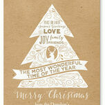 Rustic Kraft Personalised Christmas Cards additional 2
