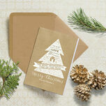 Rustic Kraft Personalised Christmas Cards additional 1