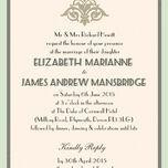 Pastel Art Deco Wedding Invitation additional 2