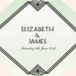 Pastel Art Deco Wedding Invitation additional 3