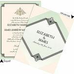 Pastel Art Deco Wedding Invitation additional 4