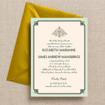 Pastel Art Deco Wedding Invitation additional 1