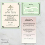 Pastel Art Deco Guest Information Card additional 2