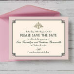 Pastel Art Deco Save the Date additional 2