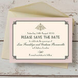 Pastel Art Deco Save the Date additional 4