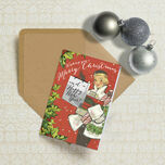 Vintage Fashion Personalised Christmas Cards additional 1