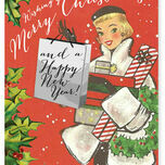 Vintage Fashion Personalised Christmas Cards additional 2