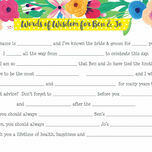 Floral Fiesta Wedding Wishes & Words of Wisdom Cards additional 2